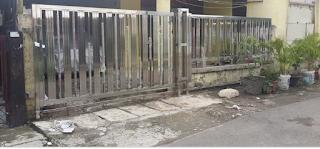 contoh pagar stainless stell minimalis terbaru