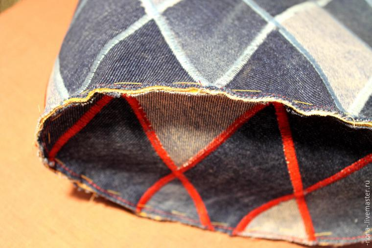 Bag Torba denim jeans. DIY Picture Tutorial. Сумка из старых джинс.