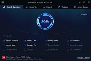 تثبيت العملاقAdvanced SystemCare V 9.2.0 مع التفعيللمدة 1 سنة