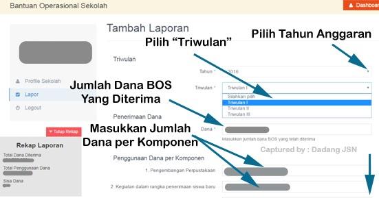 Panduan Cara Pelaporan Dana Bos Online Tahun 2016 Sd Smp Sma Dan Smk Terbaru Dadang Jsn