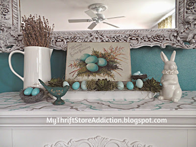 Chicken feeder spring mantel