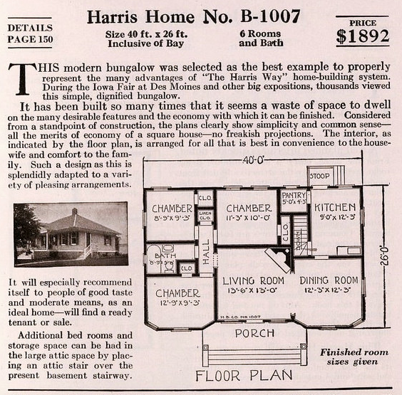 harris homes 1007 floor plan