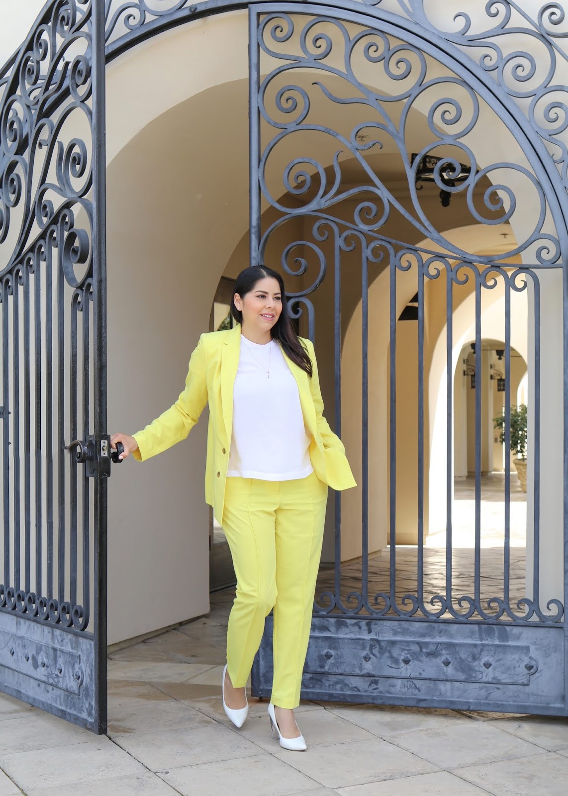 JCPenney Yellow blazer, JCPenney Yellow suit