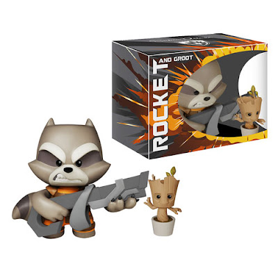 Guardians of the Galaxy Rocket Raccoon Super Deluxe Marvel Vinyl Figure with Potted Baby Groot by Funko