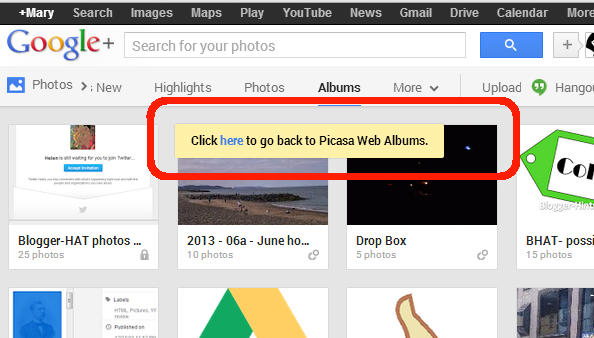 How to use Picasa-web-albums, without being re-directed to
