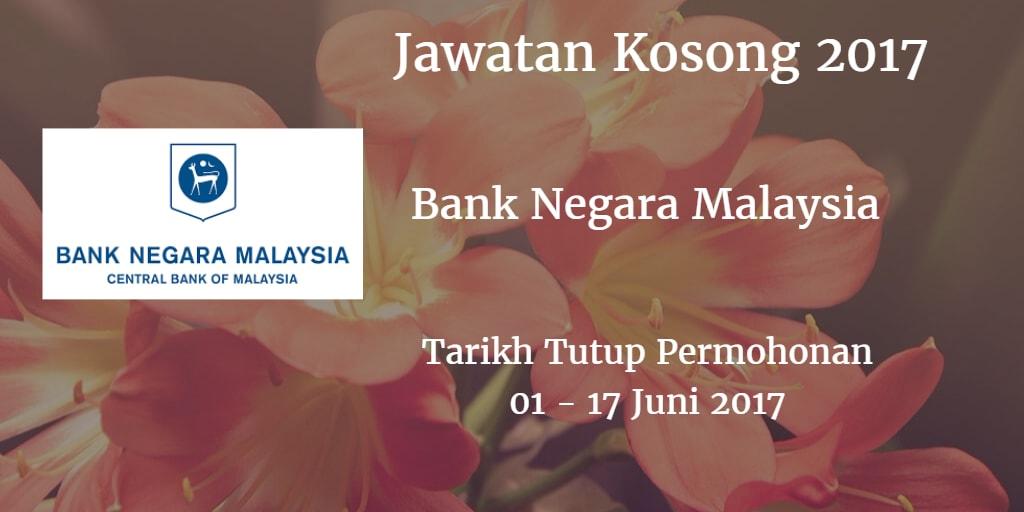 Jawatan Kosong BNM 01 - 17 Juni 2017
