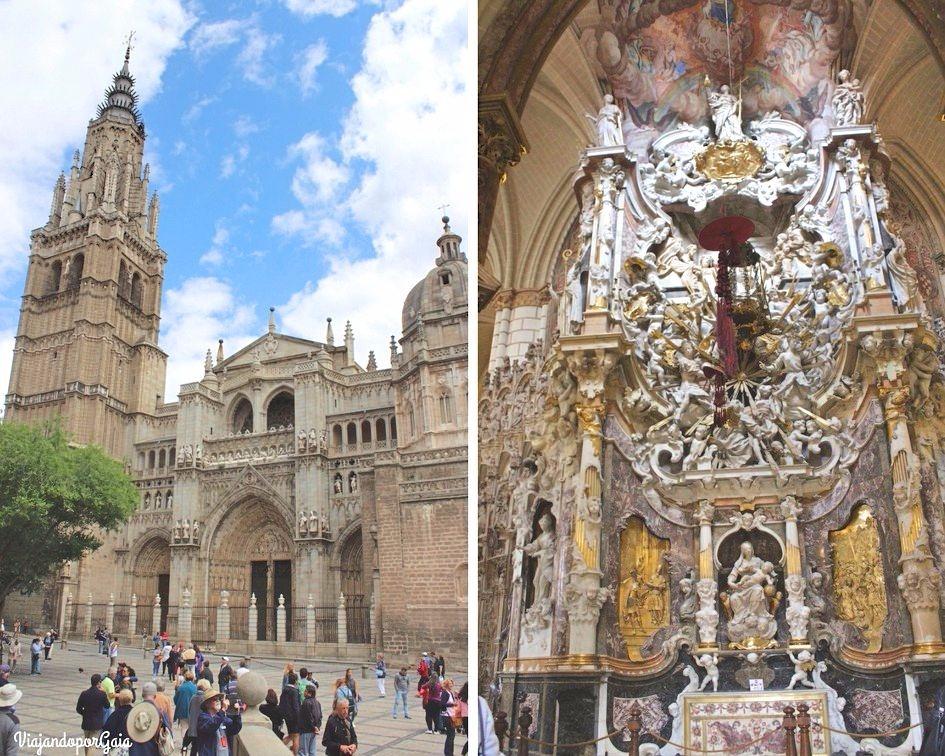 Exterior e interior de la Catedral de Toledo, es uno de los templos góticos más impresionantes de España.