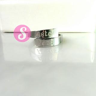 cincin nama monel silver grafir - aster
