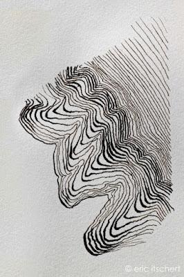esquisse à la plume, encre de chine, dessin bizarre