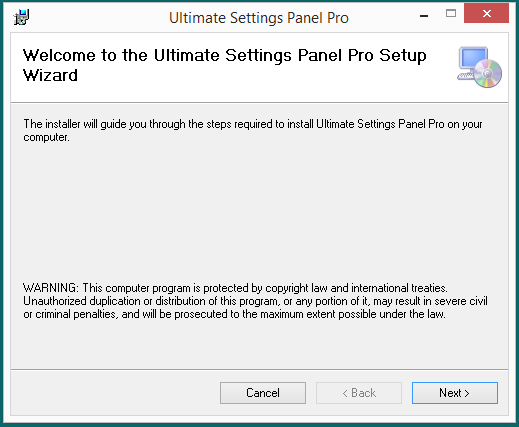 Ultimate Settings Panel Pro version 2.5 Released 2