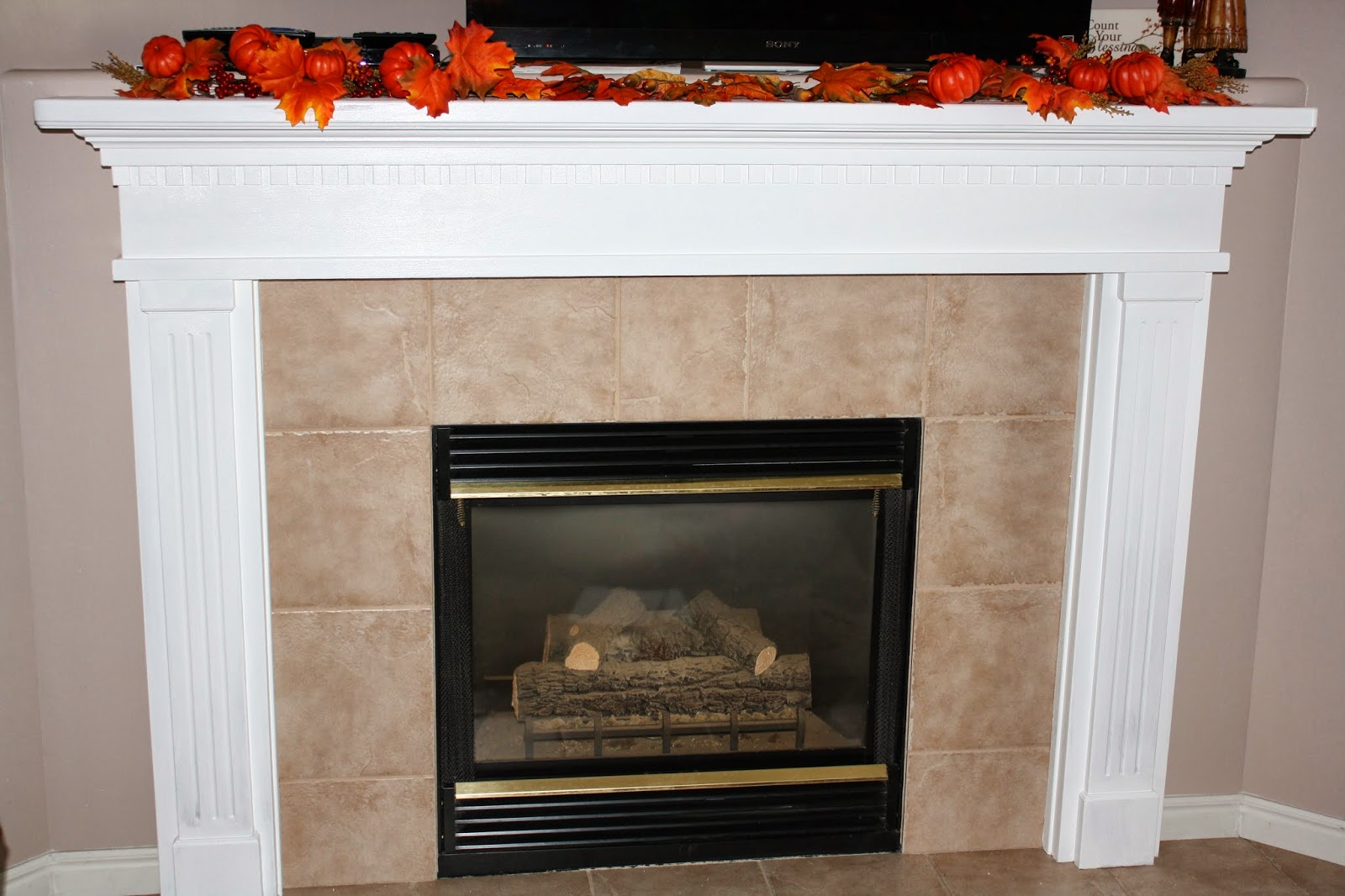Refinished Fireplace Mantel And Fall Card Making Cl Chid Zone