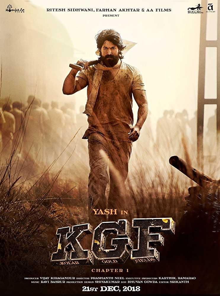 Poster K.G.F: Chapter 1 2018 Hindi Dubbed HD 1080p