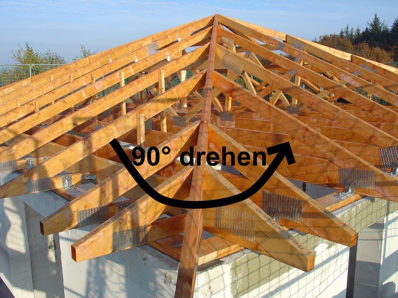 Um Der Statik Unterschiedliche Ringbalken Gerecht Zu Werden Muss Dachstuhl 90 Gedreht Da Bin Ich Mal Gespannt