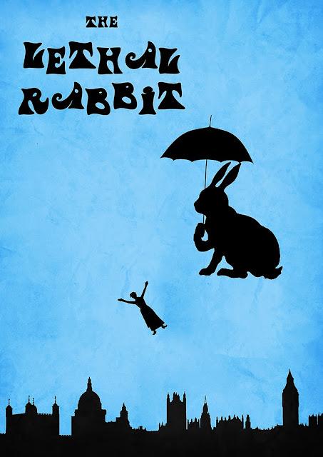 Η αφίσα της ταινίας Mary Poppins - με μια παρέμβαση από το Φονικό Κουνέλι