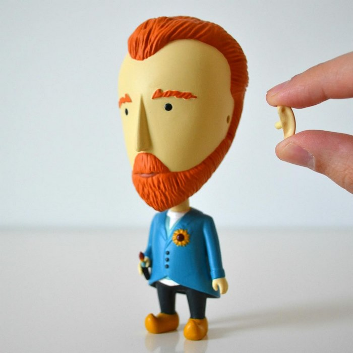 Van Gogh ya tiene su propia figura de acción, y sí, puedes desprender su oído