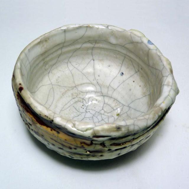 Poterie d'art, bol grès plus raku de Ulis Ceramics