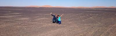 Llegando al desierto del Sahara.