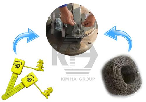 Sản xuất kẹp chì nhựa 4 ngạnh (seal mỏ neo) tại TP.HCM