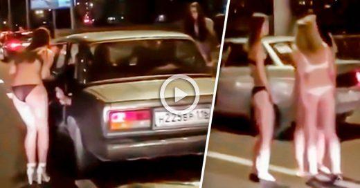 Mujeres rusas piden dinero en la calle para encontrar marido