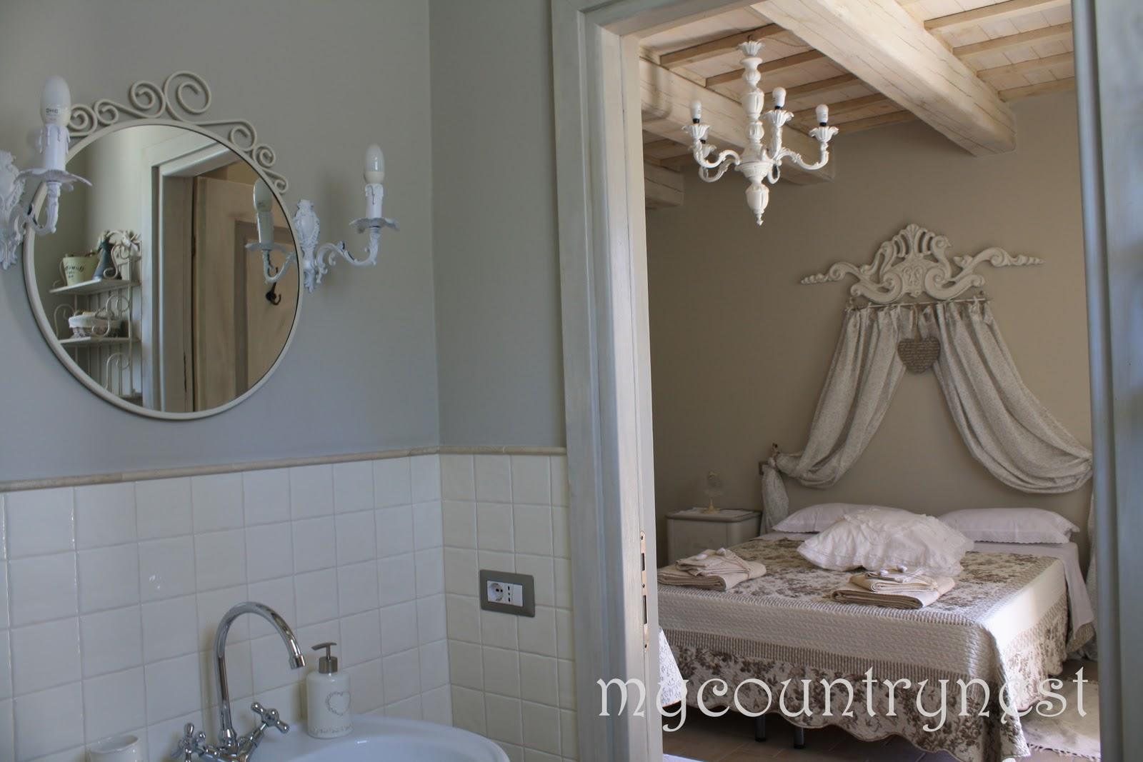 Applique bagno shabby chic applique per specchio da bagno luce