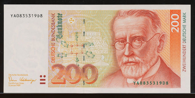 200 Deutsche Mark banknote, Paul Ehrlich