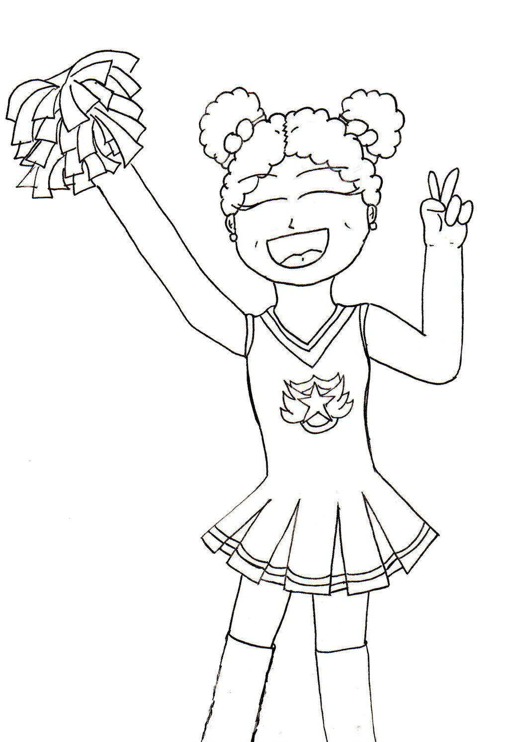 cheerleader realistic coloring pages