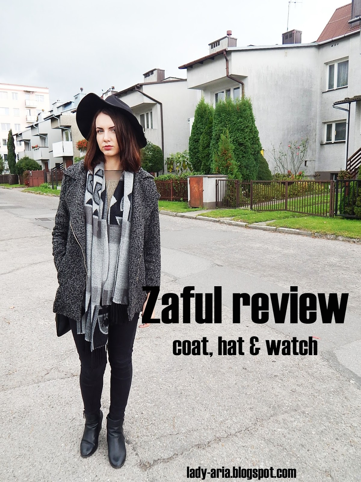 Zaful review - coat, hat & watch