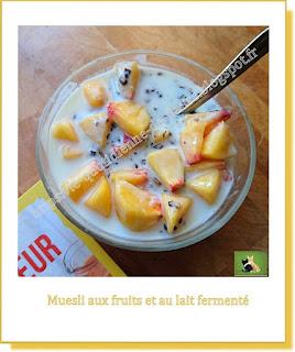 Vie quotidienne de FLaure : Muesli maison aux fruits et au lait fermenté