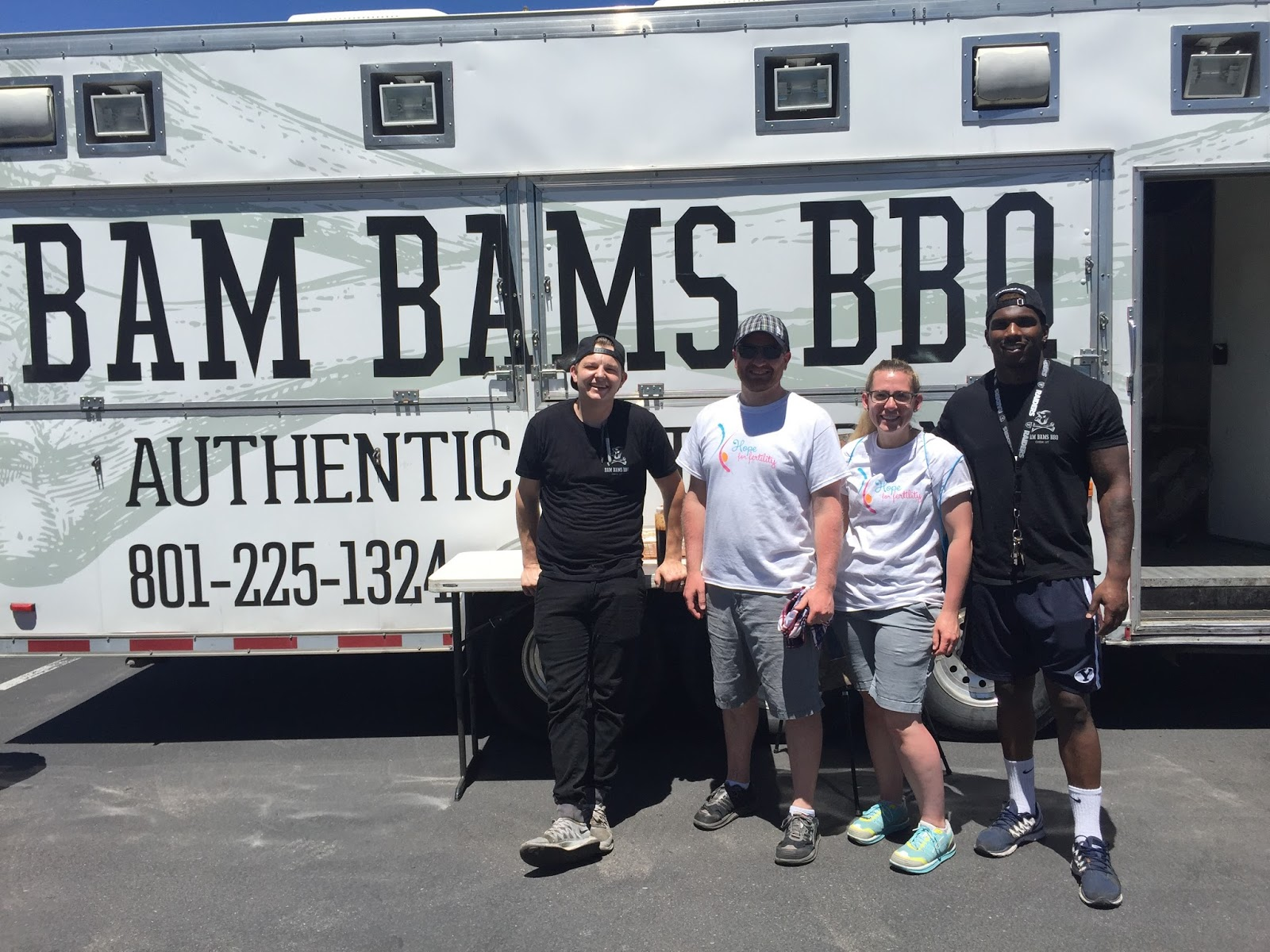 bam bams bbq at our fertility fundraiser
