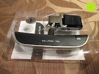 auspacken: Tragbare elektronische Waage Gepäckwaage silber
