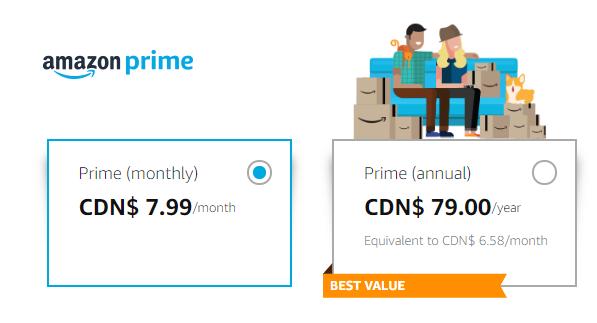 Amazon Prime Monthly