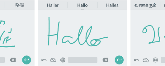 Google Handwriting Input in 82 languages on your Android mobile device