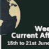 Weekly Current Affairs 15th To 21st June 2019