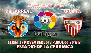 Prediksi Villarreal vs Sevilla 27 November 2017