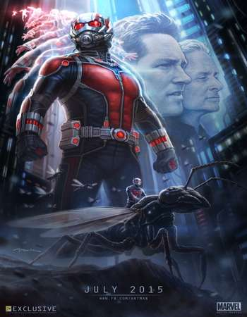 Poster Of Ant-Man 2015 Hindi Dual Audio 500MB BluRay 720p ESubs HEVC Free Download Watch Online downloadhub.in