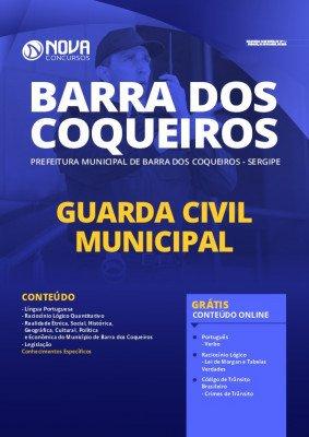 Apostila Prefeitura de Barra dos Coqueiros 2020 Guarda Civil Municipal Impressa e PDF Grátis Cursos Online
