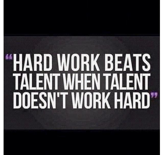 Hard work beats talent when talent doesn't work hard ~ God ...