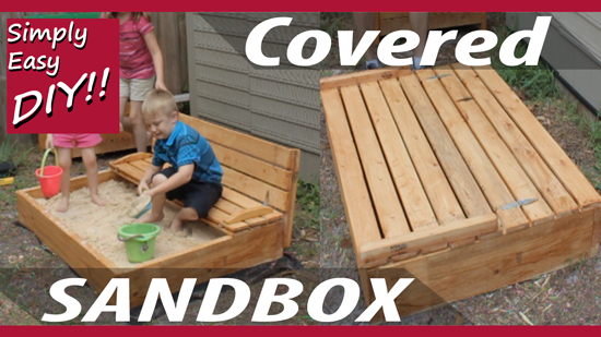 How to build a covered sandbox with bench seats