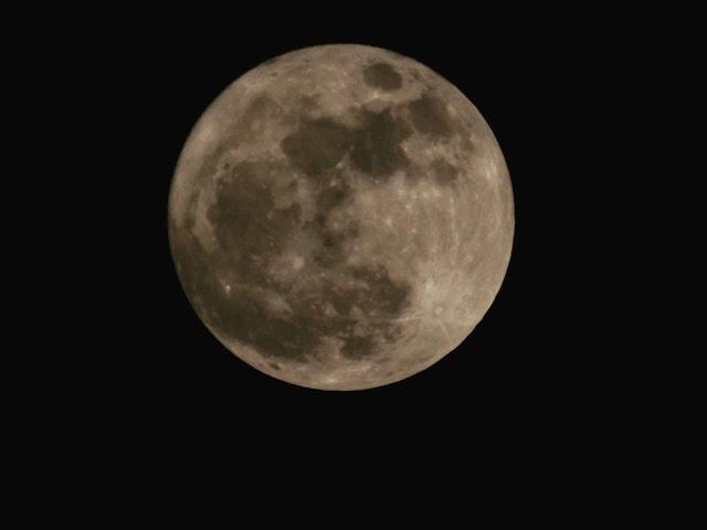Mặt Trăng chụp qua máy ảnh phóng to tại Hải Phòng. Hình ảnh: Tùng Molnye/HPAC.