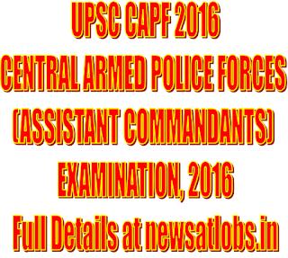 upsc+capf+examination+2016