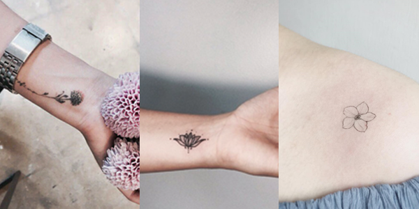 Tattoos flores delicadas - Blog Mente Viajante