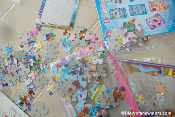 If you dont organize properly,these jigsaw puzzles can create a mess too :)