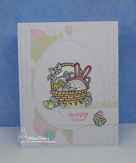 Hoppy Easter by Debbie features Newton's Easter Basket, Bunny Hop, Bokeh, and Frames & Flags by Newton's Nook Designs; #newtonsnook