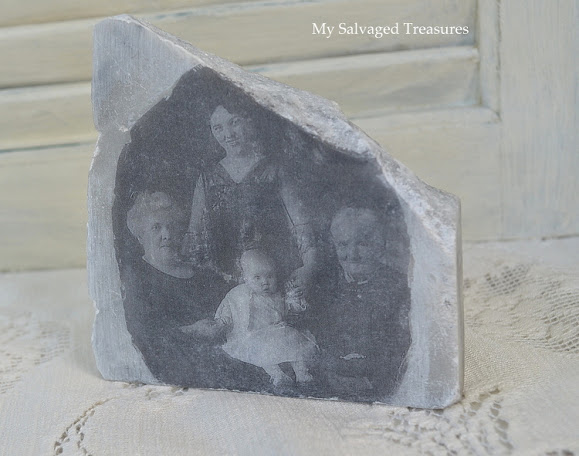 how to transfer a family picture to marble