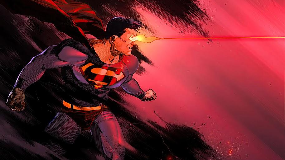 Superman, Heat Vision, DC, Superhero, 4K, #6.1994
