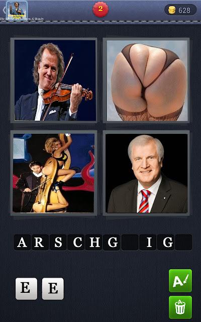 4 Wörter 1 Bild lustig - Arschgeige