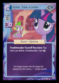 My Little Pony Spike, Take a Letter Premiere CCG Card