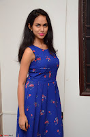Pallavi Dora Actress in Sleeveless Blue Short dress at Prema Entha Madhuram Priyuraalu Antha Katinam teaser launch 072.jpg