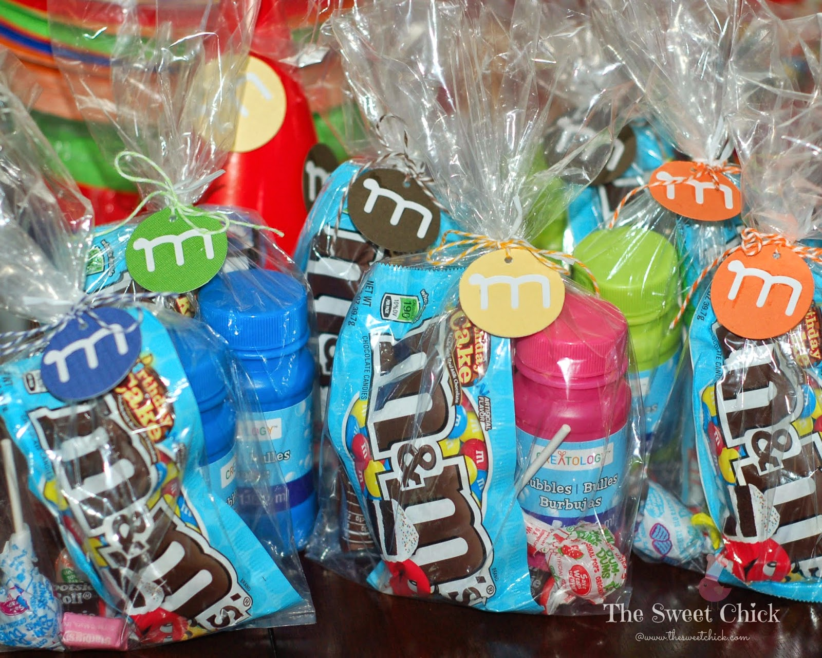 M&M Party Treat Bags by The Sweet Chick