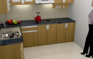 Desain Kitchen Set Interior Dapur Dengan Meja Granit - Desain Interior Semarang